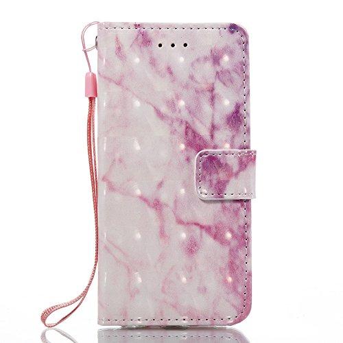GR iPhone 6 & 6s-Marmor Steinkorn Texure Muster PU-Leder Case Cover, Retro Bookstyle Flip Stand Case mit Magnetverschluss und Kartensteckplätze und Lanyard ( Color : B ) B