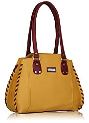 Fantosy women's handbag(Beige and Maroon FNB-214)