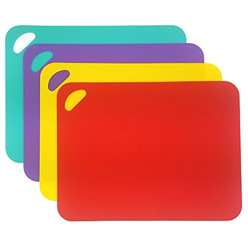 Set di 4 taglieri, multifunzionali diversi colorati plastica tagliere, lavabile in lavastoviglie