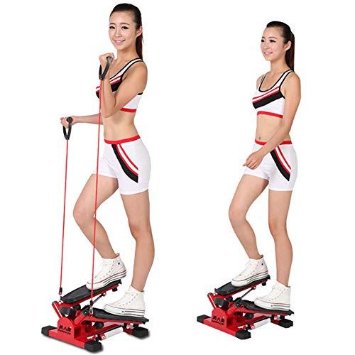 Air Climber Aerobic Fitness Step Stair Stepper Twist Übung Machine LCD Monitor Red