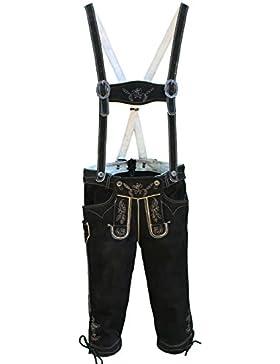 Hochwertige Herren Trachten Lederhose schwarz Wildbock | Gr. 42-66 von Spieth & Wensky Model Valentin