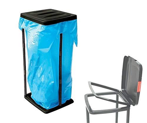 *TK Gruppe Timo Klingler Müllsackständer Abfallsackhalter 60 l bis 120 Liter Müllsack mit Deckel Müllständer Wertstoffbehälter Müllbeutelhalter*