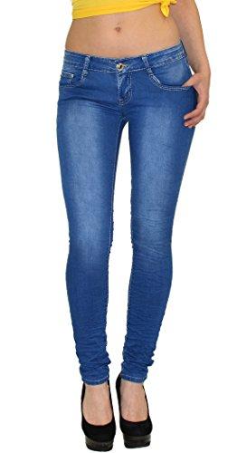 by-tex Damen Röhrenjeans Damen Jeans Damen Hüftjeans Damen Jeanshose aktuelle Modelle # S300