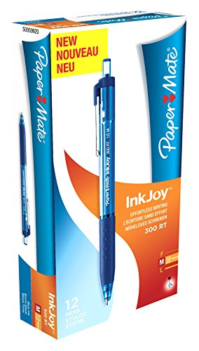 paper-mate-s0959920-inkjoy-300-rt-kugelschreiber-mit-einziehbarer-mittlere-spitze-10-mm-12er-box-bla