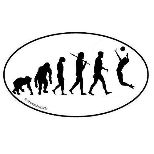 Volleyball II Evolution Aufkleber Autoaufkleber Sticker Vinylaufkleber Decal