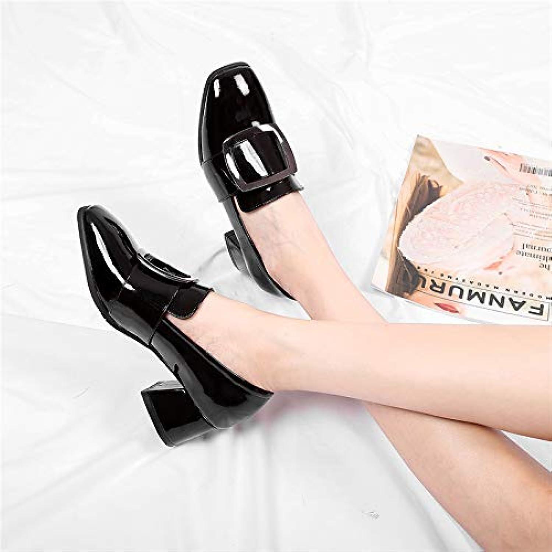 yukun talons talons talons automne cuirs épais avec une seule chaussures taille des chaussures pour femmes 41 tête carrée 43 gras...b07hd9fb7z parent | Premiers Clients  db4696