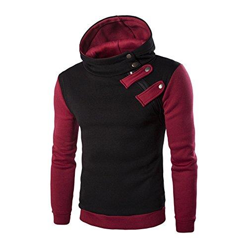MISSQQ Felpe con Cappuccio Uomo Pullover Sweatshirt Maniche Lunghe Tasche Felpa Sportive