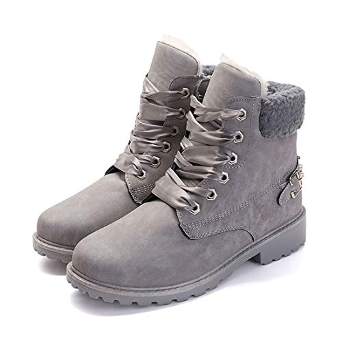 a29549ad7 Botas Nieve Mujer Otoño Invierno Calentar Piel Forro Botines Goretex Retro  Snow Boots Cordones Zapatillas Planas ...