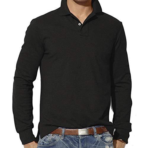 Herren Pullover Basic Kapuzenpullover Sweatjacke Winterjacke Hoodie Freizeithemd Langarm Sweatshirt Übergangsjacke Casual Slim Long Sleeve T Shirt Top Plain Polo Shirt (Schwarz,3XL)