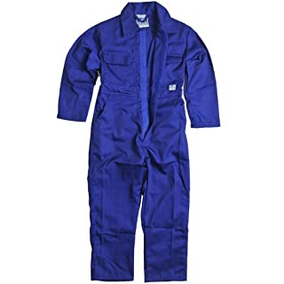 Children's, Kids, Boilersuit, Coverall, Overall, Boys, Girls (Size 30 Age 9-10 years, Royal Blue)