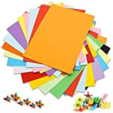 SNOW CRAFTS A3 Coloured Paper (40 Sheets)120-180 GSM for Art and Craft 16.5 inches x 11.7 inches x 0.1 inch