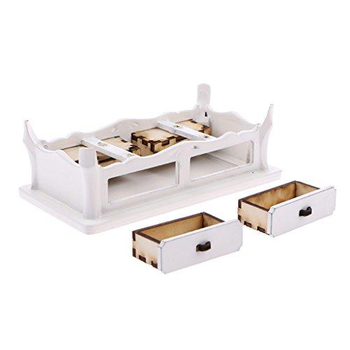 Sammlung Kaffee-tisch-set (Blesiya Mini Puppenmöbel Wohnzimmer Zubehör für 1:12 Puppenhaus Dekoration - Holz Kaffee)