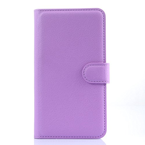 Tasche für Meizu MX4 Pro (5.5zoll) Hülle, Ycloud PU Ledertasche Flip Cover Wallet Case Handyhülle mit Stand Function Credit Card Slots Bookstyle Purse Design lila