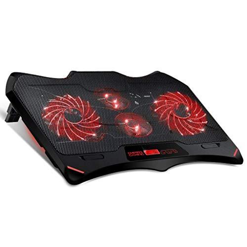 """EMPIRE GAMING - Refroidisseur pour PC Portable Gamer Wind Tornado Red - 4 Ventilateurs réglables LED Rouge - Refroidissement Silencieux et Puissant- pour Les PC Portables DE 10"""" à 15,6"""""""