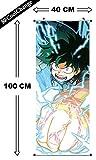 CoolChange Poster Grande Arrotolabile / Kakemono di My Hero Academia di Tessuto, 100x40cm, Motivo: Izuku Midoriya