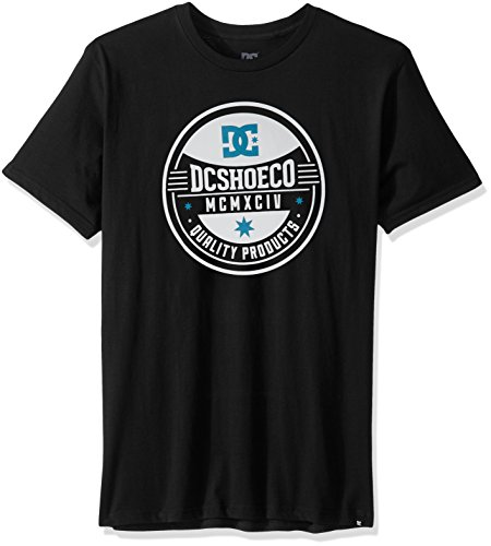 DC Herren T-Shirt Maple Seal Short Sleeve Screen Tee - Schwarz - Mittel -
