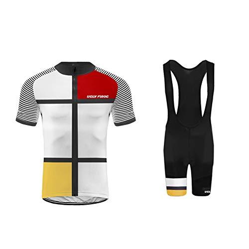 Uglyfrog Abbigliamento Ciclismo Set Estivo Maglie Ciclismo Maniche Corte+Salopette Ciclismo Squadra Professionale XTNX03F