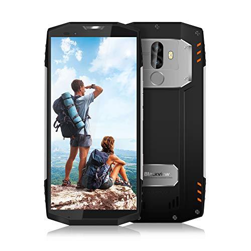 Blackview BV9000 Outdoor Handy, 64GB ROM+4GB RAM Qcta-Core 2.6GHz Prozessor,IP68 wasserfest Smartphone,4180mAh Akku mit 12V 2A Schnellladung,5.5 Zoll Full HD Touch Screen Dual SIM Robustes Smartphone,13MP+5MP Dual-Kameras mit Gesichts-ID und Fingerabdruck Google handy,NFC, Compass + GPS(Silber)