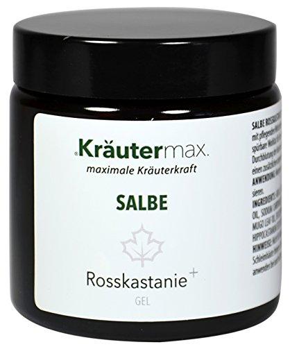 Rosskastanie Gel Salbe 100 ml • Hautbalsam mit Rosskastanie, Eukalyptus, Latschenkiefer und Menthol • Ohne Parabene • Ohne Silikonöle...