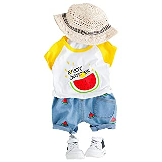 Aoweika Kleinkind Baby Boy Gentleman 2Pcs Suit Rose Fliege T-Shirt Shorts Hosen Outfit Kleidung Set