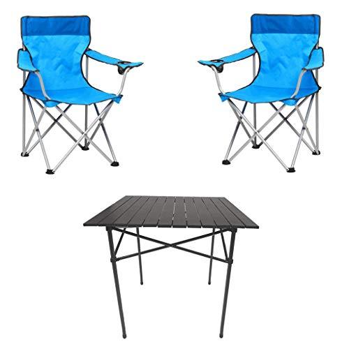 Ensemble de Camping Pliant portatif, la Table, 2 chaises, extérieur, pêche, Pique-Nique, Escalade