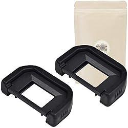 Lot de 2 - EF Oeilleton Caoutchouc pour Viseur Canon Type EF Compatible Canon 100D 300D 350D 400D 450D 500D 550D 600D 650D 700D 750D 760D 1000D 1100D