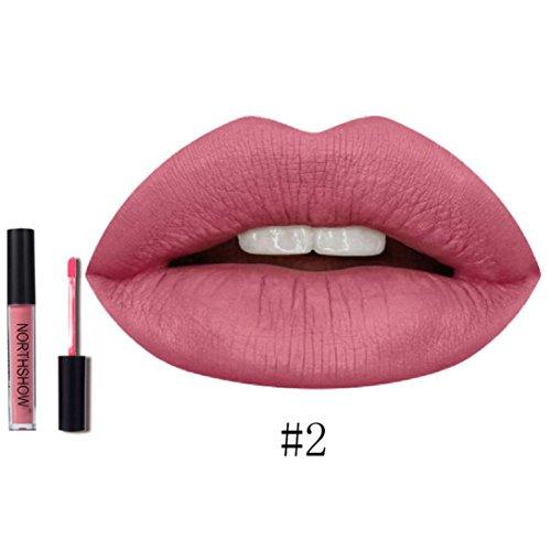 IHUI Lipstick Schönheit Lippe Gloss Long Lasting Moisturizing Lippenstift Lip Gloss Fashionable Colors Matte Liquid Lipstick (02 #) (Halloween-make-up Zu Kaufen)