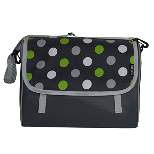 C-BAGS INDYGO single CLASSIC GRAND POLKA DOTS Gepäckträger Fahrradtasche Tasche verschiedene Muster (grey)