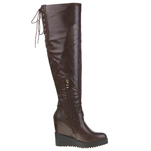 Stiefel Damen 99479 Schuhe Braun Damen Stiefel Schuhe 99479 PwFRqB
