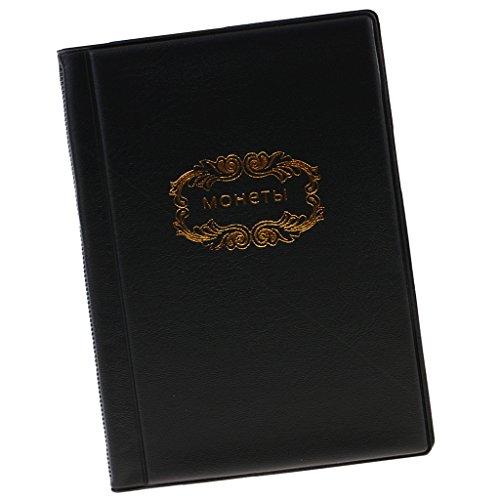 Schwarz Brieftasche Tasche (Hellery Münz Aufbewahrungsalbum Buch Für Sammler Geld Tasche Brieftasche Klein - Schwarz)
