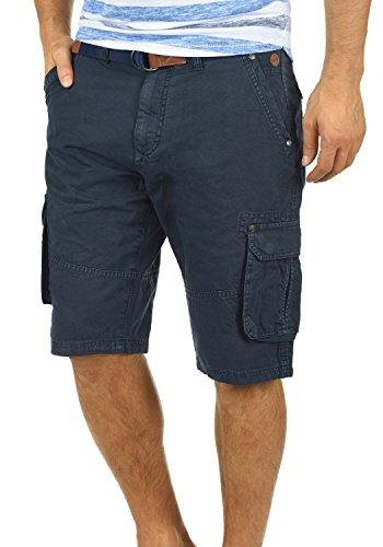 BLEND Renji Herren Cargo-Shorts kurze Hose mit Taschen aus 100% Baumwolle, Größe:L, Farbe:Navy (70230) (Super Shorts Kurze)