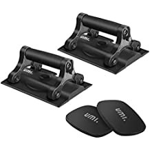 Umi. Essentials Ab Wheel Roller and Push-Up Bar with Mat ( 3 in 1 )