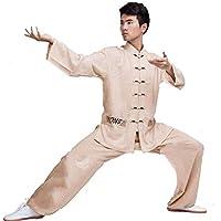SCDXJ Tai Chi Uniforme Ropa Artes Marciales Wing Chun Shaolin Kung Fu Taekwondo,Yellow-S