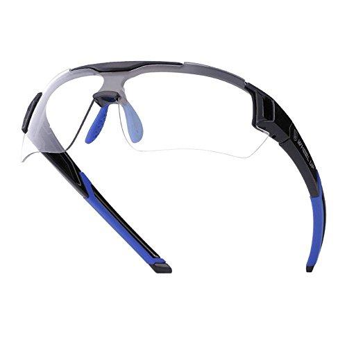 Fahrradbrille Uvex, Weant Polarisiert SportbrilleKlar Sonnenbrillen Männer Optische Sonnenbrille Für Herren und Damen Radsport Brille Für Reiten Fahren Angeln Laufen Sport-schutz Skibrille (Blau) - 2