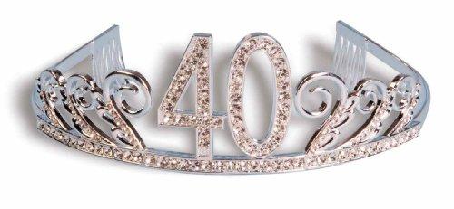 Forum Novelties Strass besetzt 40. Happy Birthday Tiara (40 Dekorationen Bday)