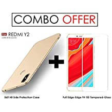 """Premium REDMI Y2 Back Cover - WOW Imagine All Angle Protection 360 Degree"""" Ultra-Slim Fit [ Non-Slip ] [ Anti-Scratch Resistant ] Shell Lightweight Rubberised Matte Hard Case Back Cover For XIAOMI MI REDMI Y2 (June 2018 Launch) - Champagne Gold"""""""