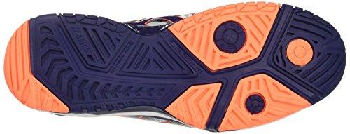 Asics Gel-Resolution 7 L.e.Melbourne, Scarpe da Ginnastica Uomo Bianco (White/Indigo Blue/Hot Orange)