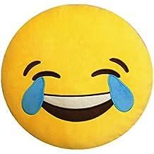 Naisi Cojín Emoji Almohada Emoticono con Expresión Facial Llorar Riendo para Sofá Cama Decoración Regalo Creativo Muy Chulo