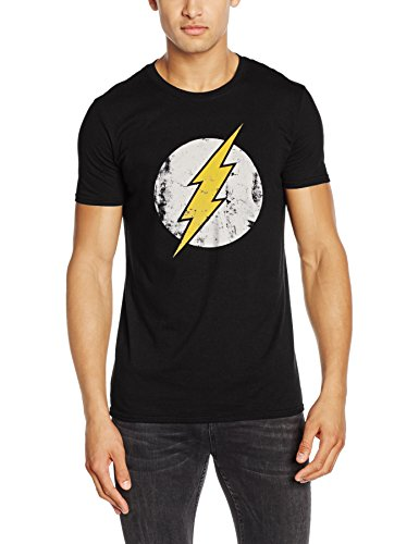 CID THE FLASH - DISTRESSED LOGO-T-shirt  Uomo    Nero Large