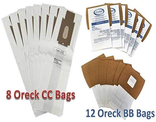 Oreck XL Kit 8Typ CC aufrecht + 12Buster B Kanister Typ BB Staubsaugerbeutel, vergleichen die Teil. ccpk8, ccpk8dw, pkbb12of PKBB12DW