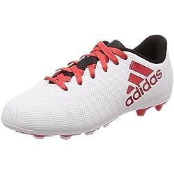 Adidas X 17.4 FxG J, Botas de fútbol Unisex Adulto, (Gris/Correa/Negbas 000), 38 2/3 EU