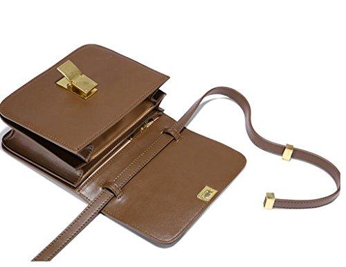 Zcjb Mini Borsa A Tracolla A Tracolla Piccola Per Donna Tofu Multicolor Opzionale (colore: Nero) Cioccolato