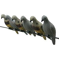D & Q 4pcs tir à l'arc 3D Animal Cible Pigeon Appât Decoys Creux en Mousse EVA pour Ciblage de Chasse en Plein air ou