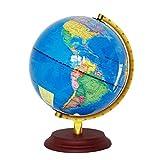 Backbayia 23cm Rotierende Desktop Geografie Globus Weltkugel mit Beleuchtung für Kinder Lernspielzeug