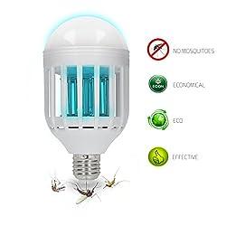 2in1 Mücken-Killer & Lampe Mückenschutz in Form einer Haushaltsüblichen E27 Glühbirne mit UV-A Licht