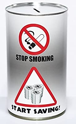 Stop Smoking Cash Can Savings Tin - Large by PIP Solutions UK