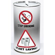 Dejar De Fumar Dinero En Efectivo Lata Ahorros Estaño - Grande