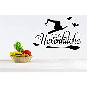 *NEU* Wandaufkleber/Wandtattoo/Wandsticker – Spruch für die Küche ***HEXENKÜCHE – 04*** (Größen.- und Farbauswahl)