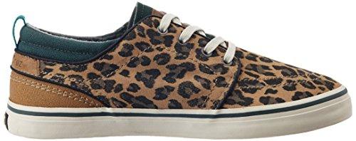 O'Neill Womens/Ladies Santa Cruz Suede Low Top Sneakers / Trainers Leopard
