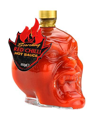 Salsa piccante alla testa del diavolo rosso scottante Deliziosa salsa piccante al peperoncino per pizza, ali di pollo, insalata e altro